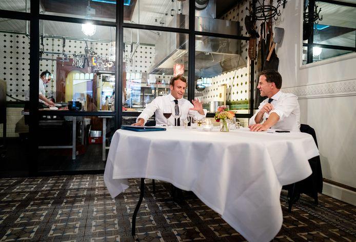 Premier Rutte en President Macron dineren bij CRU